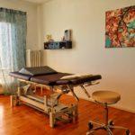 Behandlung in Raum 1 in der Praxis OSTEO&MORE in Edesheim